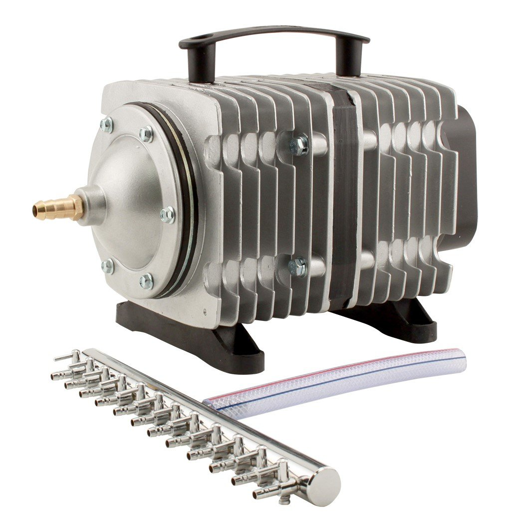 EcoPlus 3566 GPH (13500 LPH, 200W) Commercial Air Pump w/ 12 Valves | Aquarium, Fish Tank, Fountain, Pond, Hydroponics by EcoPlus