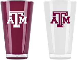 NCAA Texas A & M Aggies 20oz Insulated Acrylic Tumbler Set of 2