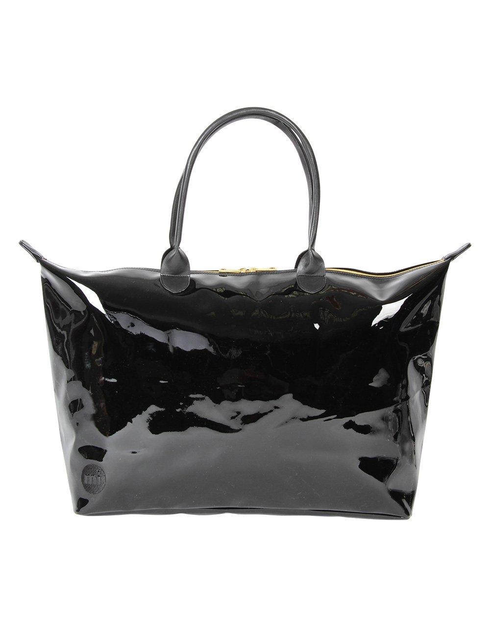 55 cm Mi-Pac Mi-Pac Weekender Patent Cabas Noir Black