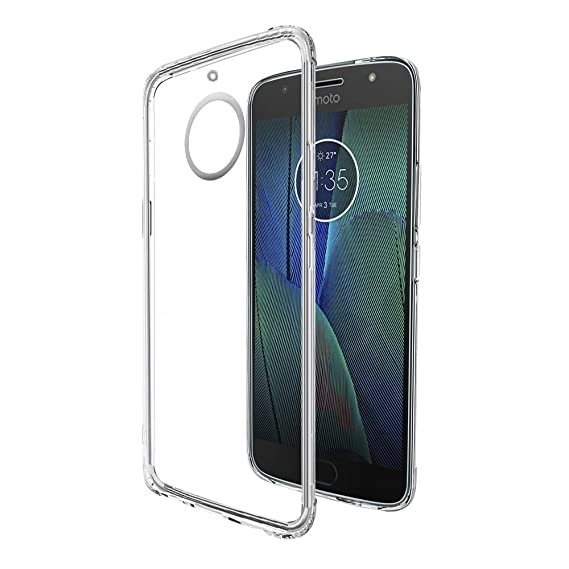 san francisco f7a50 b10f5 Amazon Brand - Solimo Moto G5s Plus Mobile Cover (Soft & Flexible Back  case), Transparent