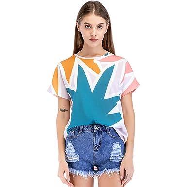 Shirt Top Ample Fleuri Pour Blouse Manche Angelof Femme T Imprimé 1JFTlKc