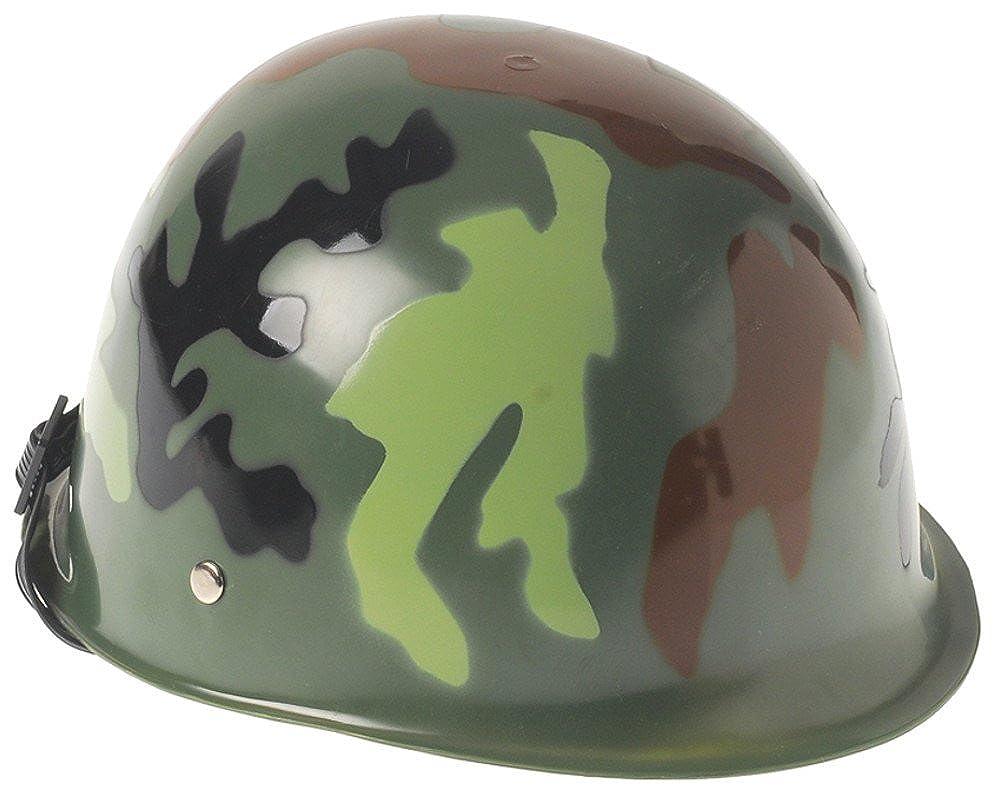 Kids Plastic Costume Helmet in Woodland or Desert Camo