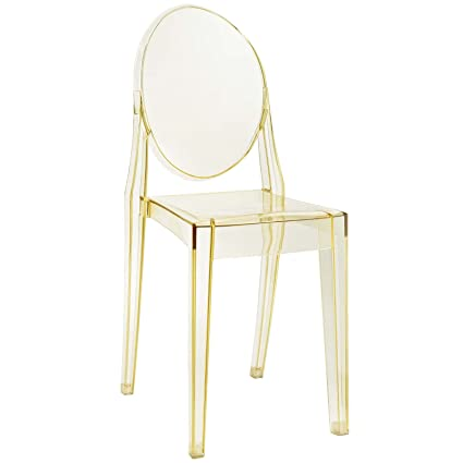 Charmant Modway Casper Modern Acrylic Dining Side Chair In Yellow