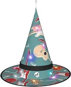LEPO'S - Gorro de bruja para decoración de Halloween con