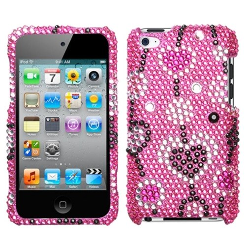 (MYBAT Unique Diamante Protective Case for iPod touch 4 (Love River) )