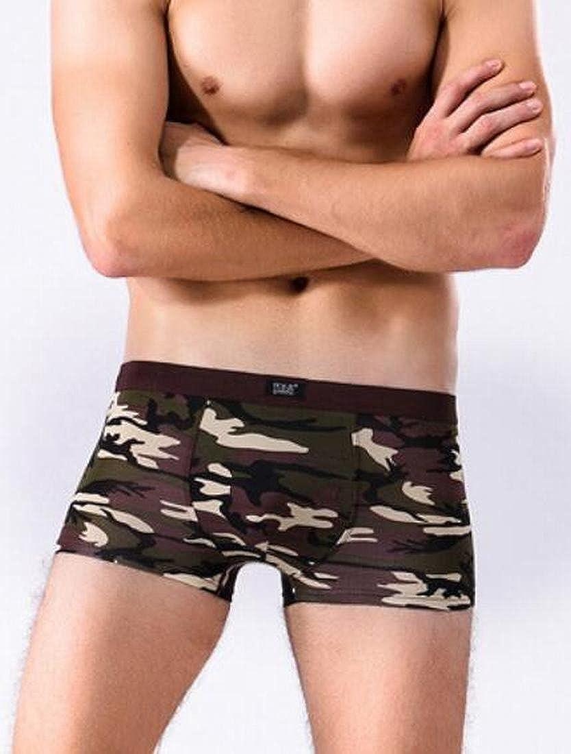 xtsrkbg Men Camouflage Low-Rise Boxer Briefs Underwear 4 Piece Pack