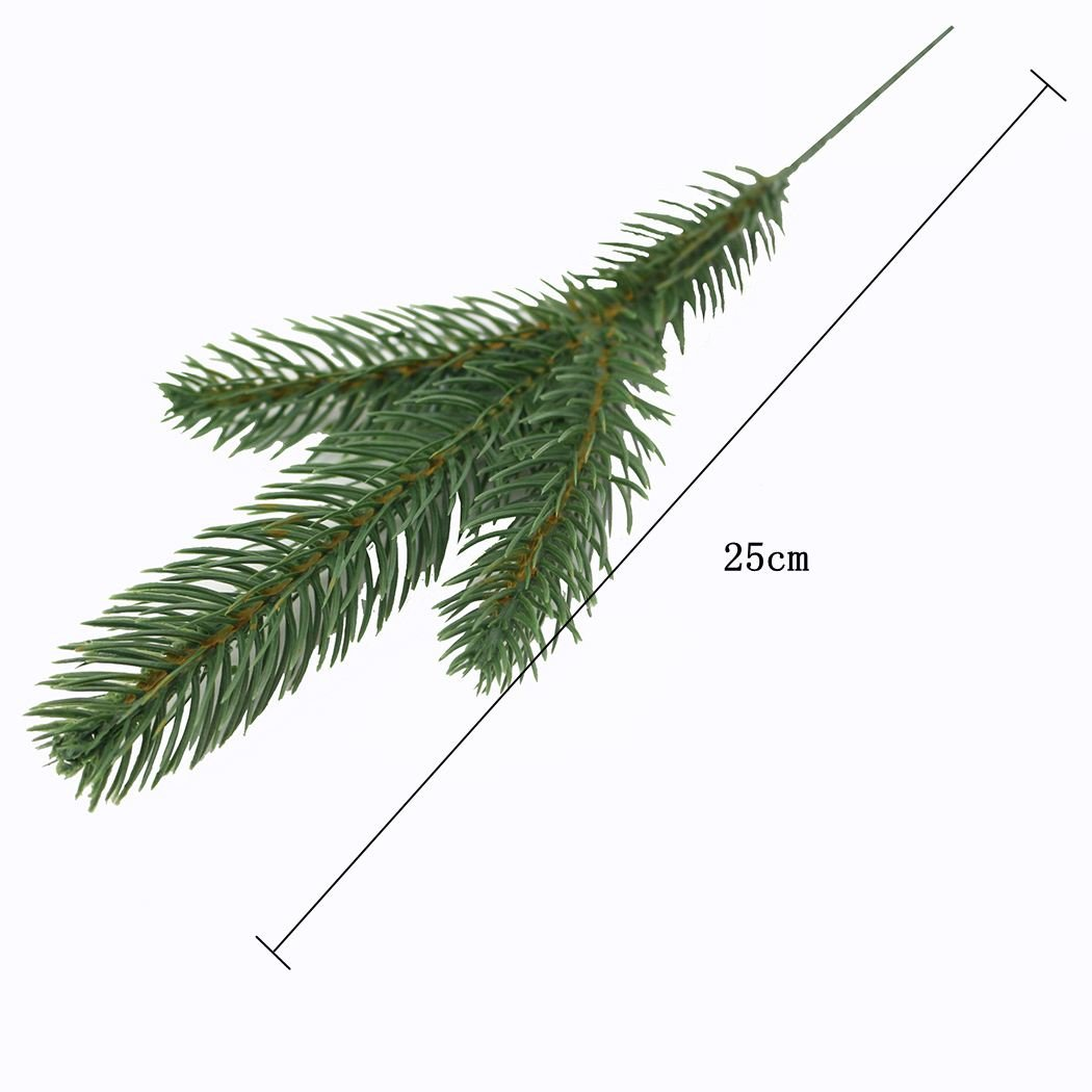 JAROWN 25pcs Artificial Pine Green Leaves The Evergreen Branches for Christmas Embellishing Winter Greenery and Home Garden Decor