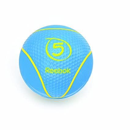 Reebok Medizin Medicine Ball Balón Medicinal de 5 kg, Unisex, Cyan ...