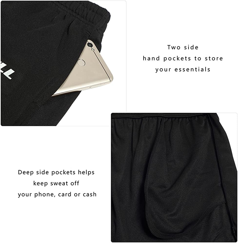 LUWELL PRO Mens 7 Running Shorts with Pockets Quick Dry Breathable Active Gym Shorts for Workout,Training,Jogging