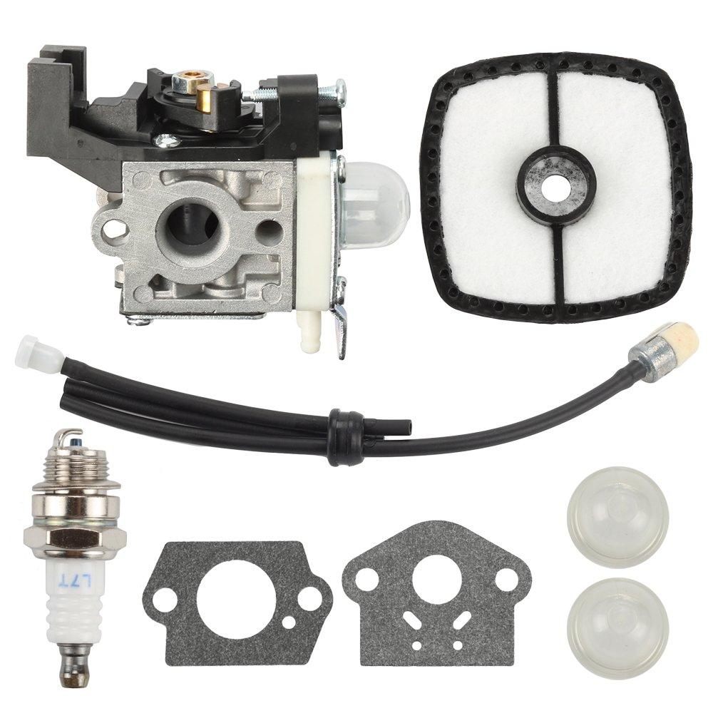 Hilom RB-K93 Carburetor for Echo SRM225 SRM-225 GT225 PAS225 SRM225i SRM-225U SRM-225SB PE225 PPF225 SHC225 A021001690 A021001691 A021001692 A21001690 Trimmer & Fuel line kit & Air Filter