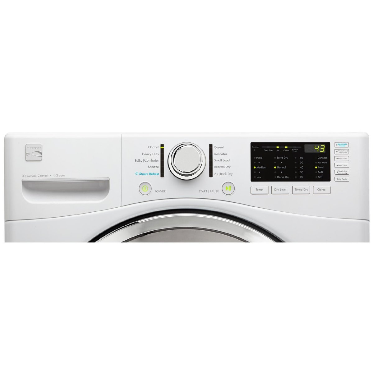 Kenmore 81382 74 Cu Ft Electric Dryer With Steam In 220 Volt Wiring Diagram Blow Drying White Includes Delivery And Hookup Appliances