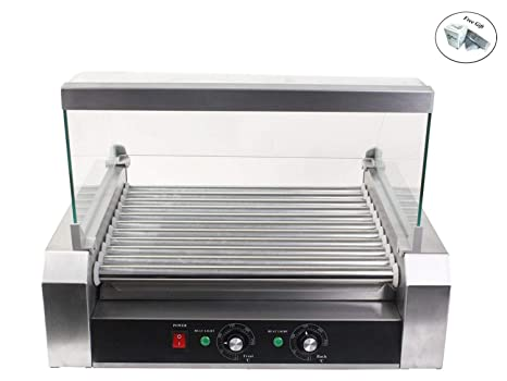 Amazon.com: Commercial Kitchen 30 Hot Dog 11 Roller Grill ...