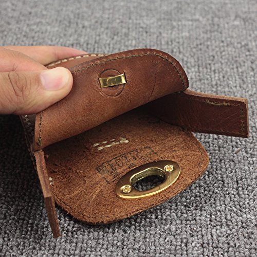 Thick Geninue Leather Handmade Pellets Ammo Storage Bag Pouch hunting outdoor by Unknown (Image #3)