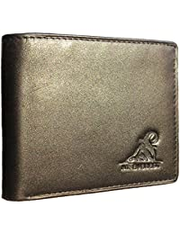 RFID Blocking Trifold Bifold Mens Leather Wallet, 18 Pocket Extra Capacity, High-End Build, Gift Box for Men