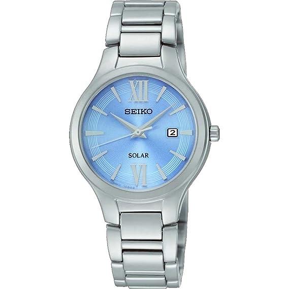 Seiko para mujer con esfera analógica y digital Solar FECHA SUT209P9: Amazon.es: Relojes