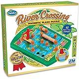 ThinkFun River Crossing Logic Puzzle, Multicolor