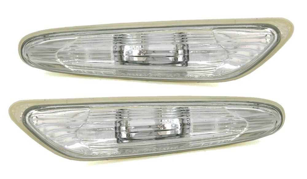New transparent side indicators set for car (see compatible models on description) White frontwing repeaters … TYC