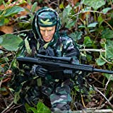 Army Toys Action Figure by World Peacekeepers - Collectible 12 Inch Military Action Figure Army Man - Army Men Toys w/ 6 Accessories - Sniper (Jungle)