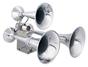 6129Irfe58L._SX355_ amazon com grand general 69991 chrome heavy duty train horn with  at bayanpartner.co