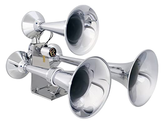 Amazon.com: Grand General 69991 Chrome Heavy Duty Train Horn With ...