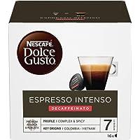 Nescafé Dolce Gusto Café Espresso Intenso Descafeinado, 16 Cápsulas