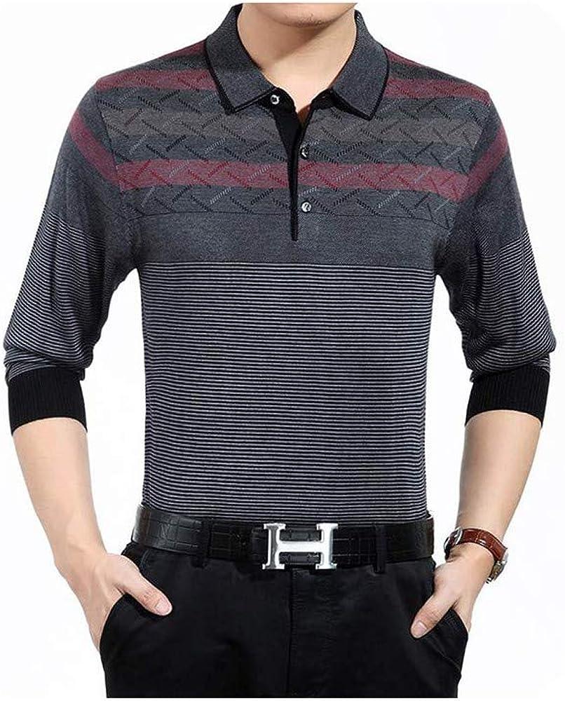 CHENGW Casual Striped Fitness Long Sleeve Polo Shirt Men Poloshirt Jersey Luxury Mens Polos tee Shirts Dress