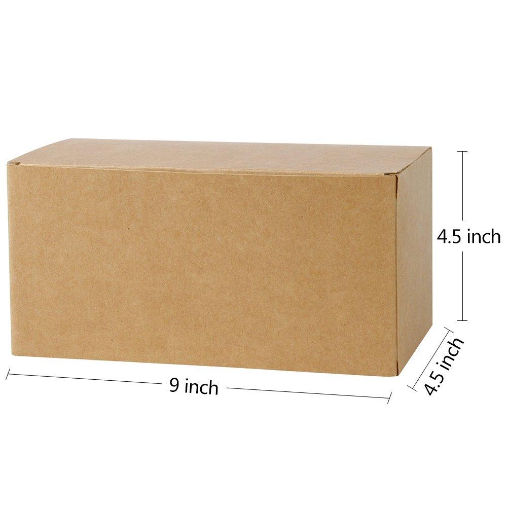 LaRibbons 20Pcs Cajas de Cartón Reciclado Marrón / Cajas de Regalo Kraft Para Fiesta, Boda, Regalo, 230 x 115 x 115 mm: Amazon.es: Oficina y papelería
