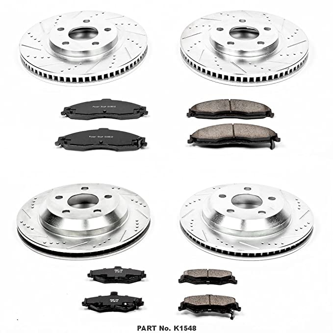 Front+Rear Brake Rotors Ceramic Pads For 1998-2001 2002 Chevy Camaro Firebird