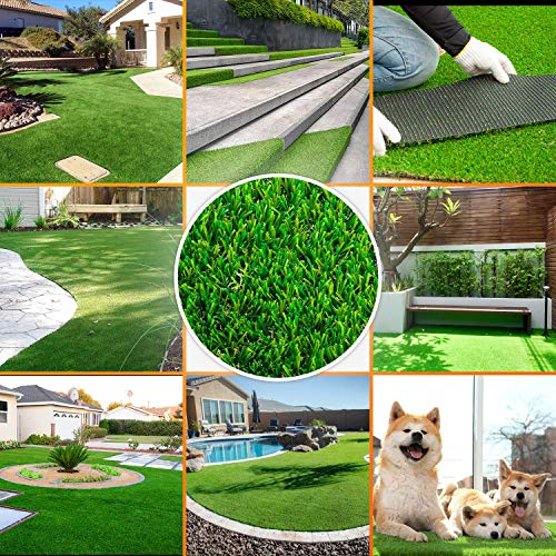 """SMARTLAWN Professional Realistic Artificial Grass Rug, 5'X8'(40 SFT) Carpets for Indoor and Outdoor Use, 1.25"""" Pile Height Soft and Lush Natural Looking Synthetic Mats"""