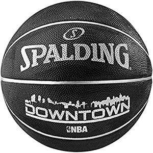 Spalding NBA Highlight Black In- Outdoor Basketball, Grösse:7
