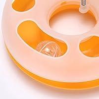 Hemore Interaktives Katzenspielzeug, einlagig, Spielzeug, Spielzeug, Katze, bewegliche Feder, Spielball mit Glöckchen, Gelb