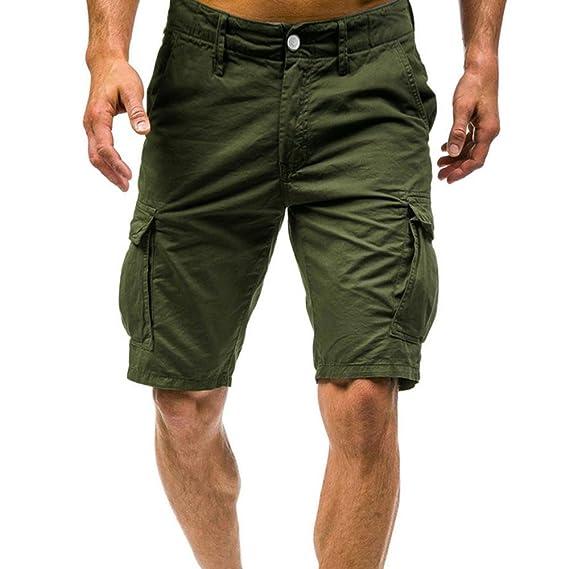 Pantalones Hombre,❤LMMVP❤Pantalones cortos de los hombres de los deportes del trabajo ocasional del ejército del cargo pantalones cortos