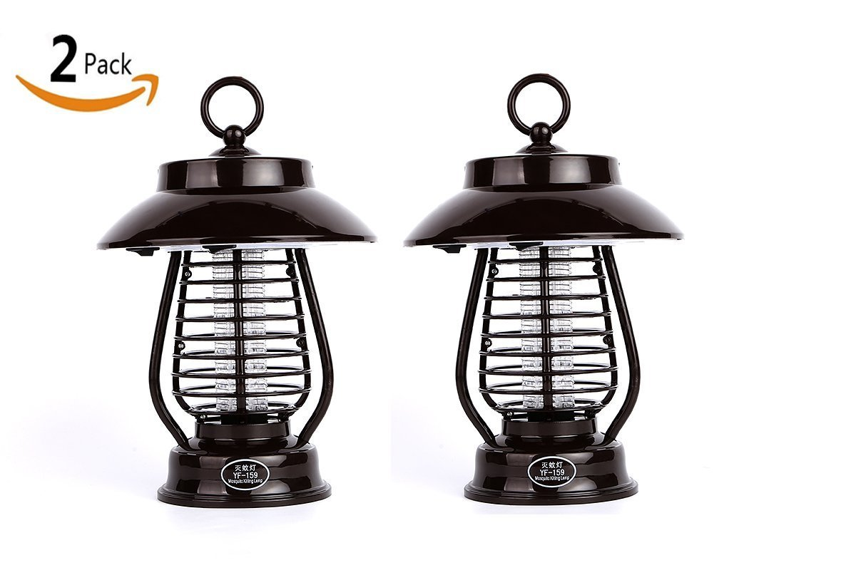 Marcobrothers 2 Pack Insect Pest Bug Zapper Light Solar Mosquito Killer LED Light For Outdoors Yard