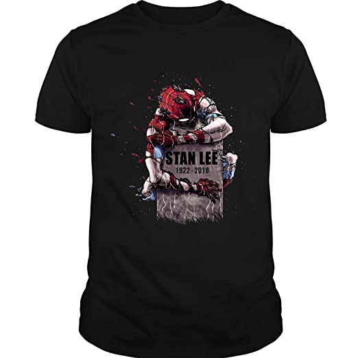 78d843ce Amazon.com: Rip Stan Lee Shirt 1922-2018, Stan Lee Marvel Comics Shirt, Stan  Lee Spider-Man Films Shirt: Clothing
