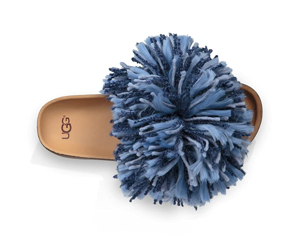 934697c9188 UGG Cindy Dark Denim Yarn Fringe Slides 36EU/3.5UK Blue: Amazon.co ...