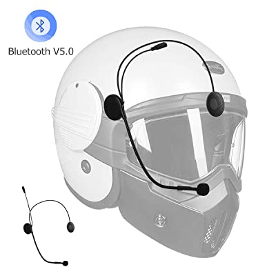Bluetooth for Helmet Motorcycle, Geva Helmet Bluetooth Headset Bluetooth Motorcycle Headset 5.0 with Mic Supporting Voice Dial/Automatic Answer/HD Music for All Sports with Helmet Bluetooth: Automotive