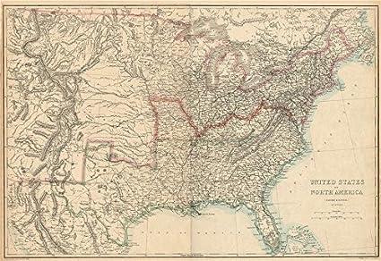 amazon com civil war usa showing union confederate border states