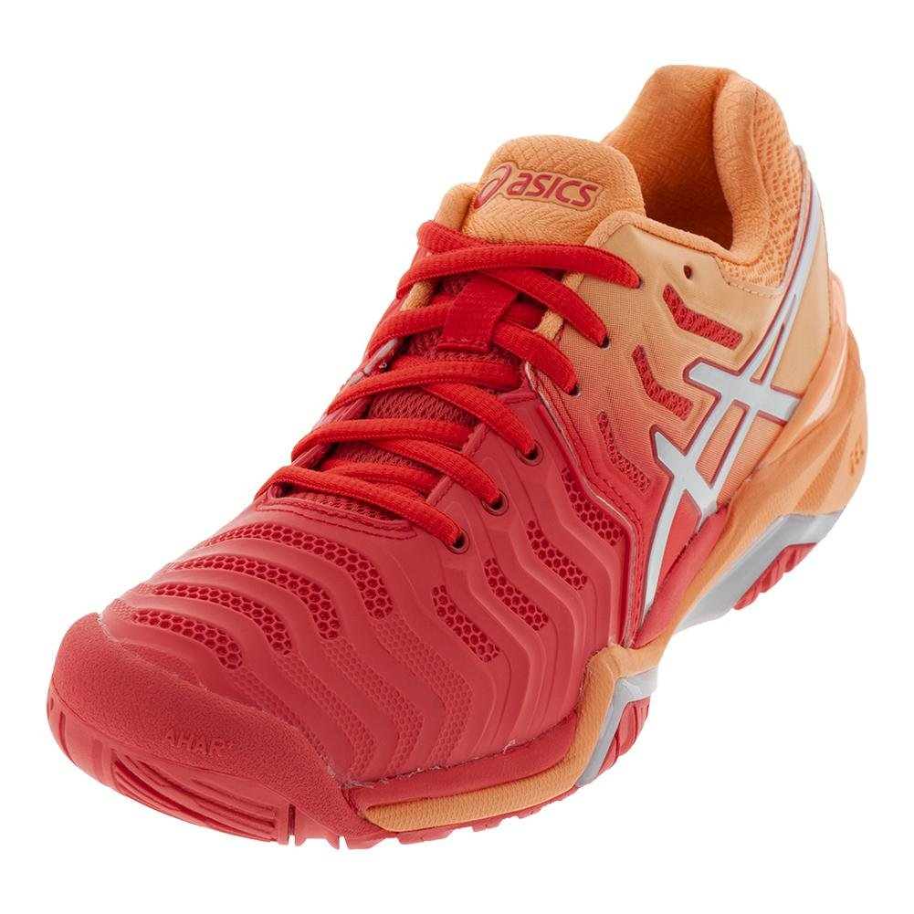 ASICS Women's Gel-Resolution 7 Tennis Shoe B077NGZ82N 7 B(M) US|Red Alert/Silver