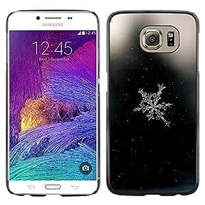 LECELL--Funda protectora / Cubierta / Piel For Samsung Galaxy S6 SM-G920 -- Space Black Snowflake Black --