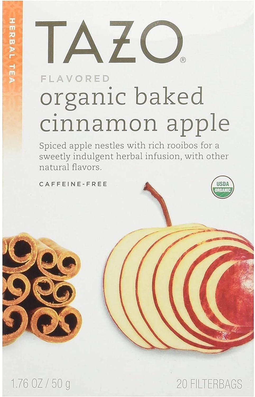 Tazo Organic Baked Cinnamon Apple Tea, 20 ct