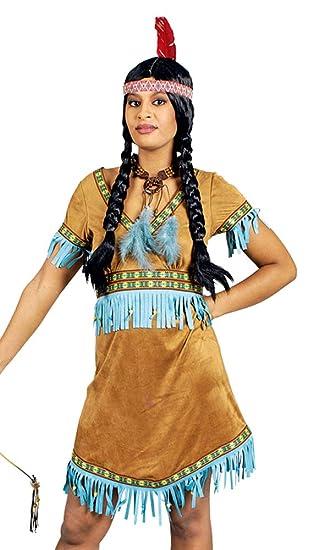 Indianerin Nashota Kostum Damen Gr 32 34 Schones Indianer Wilder