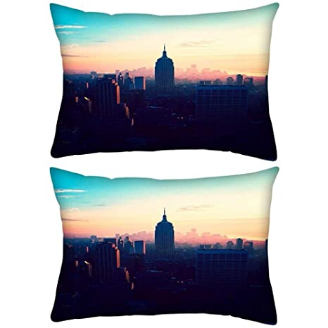 Pack de 2 Nueva York Nueva York Rectángulo Toss Throw Pillow ...