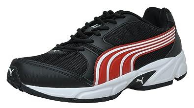 4ae90337f32127 Puma Men s Strike II DP Black and High Risk Red Mesh Running Shoes - 6 UK