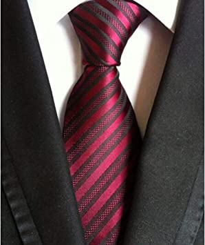 DYDONGWL Corbata Fina Hombre,Corbata de Rayas de los Hombres ...