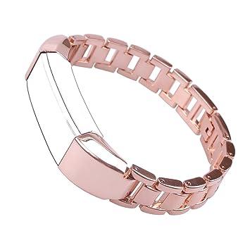 Bandes Fitbit Alta/HR,Bracelet Fitbit Alta Montre Connectée Bracelet Femme Boucle Acier inoxydable