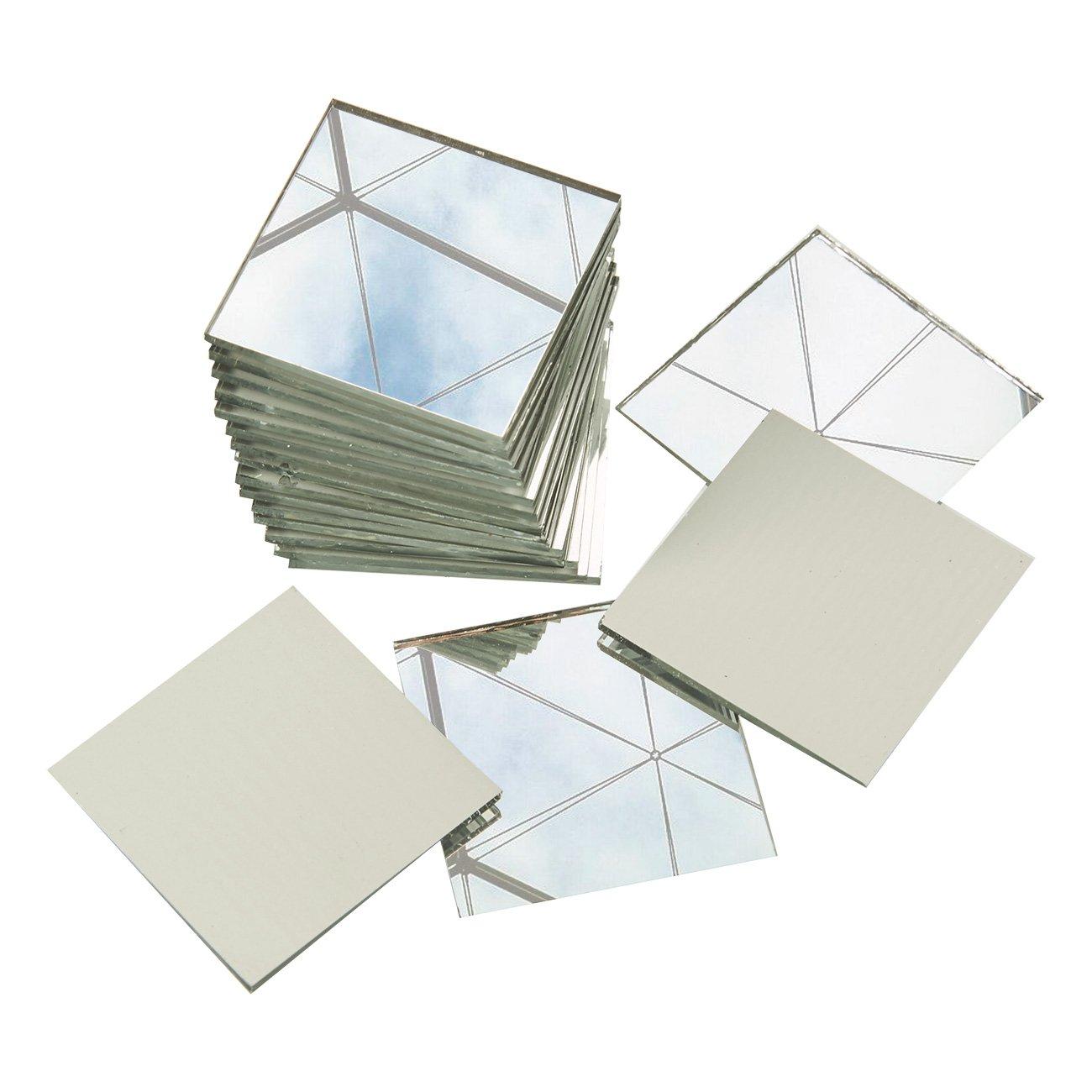 DETAILS Craft Mirrors 120 Pack Bulk Square