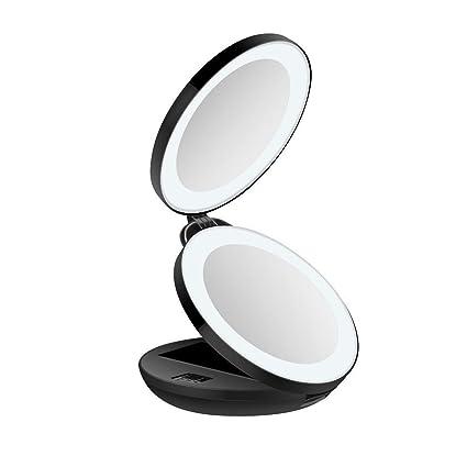 Specchio Per Trucco Da Bagno Specchietto Ingranditore Portatile Colore Panna Altro Accessori Bagno Casa, Arredamento E Bricolage