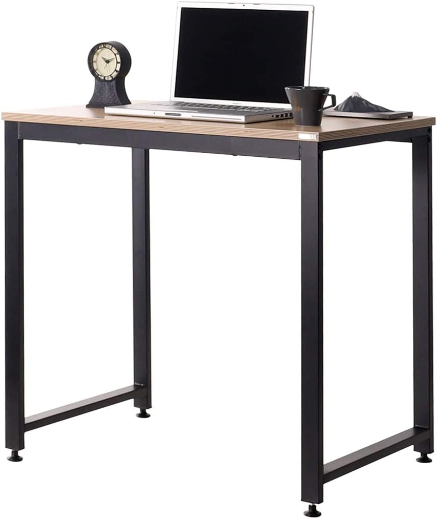 "SOFSYS 31"" Computer Writing Desk Workstation Table Home Office Design for Video Gaming, Designers and Entrepreneurs, Large Desktop with Sturdy Metal Frame, Oak/Black"