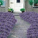 MARJON-FlowersArtificial-Fake-Plants-4pcs-Faux-Greenery-Ferns-Lavender-Shrubs-Simulation-UV-Resistant-Plastic-Bushes-Indoor-Outside-Planter-Hanging-Flowers-Decor-Purple