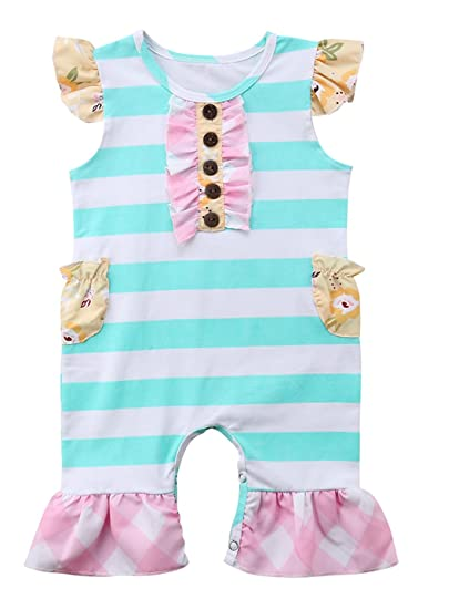 Amazon.com  Faithtur 0-24 Months Baby Girls Ruffle Outfit ee6785578c